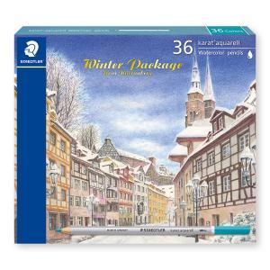 ステッドラー 125-M36W19 カラト アクェレル水彩色鉛筆<ウインターパッケージ2019> 36色セット (karat aquarell winter package) bunsute