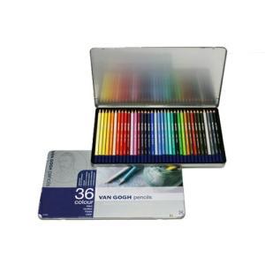 サクラクレパス T9773-0036 ヴァンゴッホ 色鉛筆 36色セット(メタルケース入り) 157371 bunsute