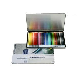 サクラクレパス T9774-0036 ヴァンゴッホ 水彩色鉛筆 36色セット(メタルケース入り) bunsute