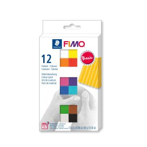 ステッドラー 8023-C12-1 CLAY FIMO オーブンクレイ フィモ ソフト ハーフサイズ12色セット|bunsute