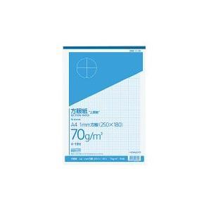 コクヨ ホ-19N 上質方眼紙 A4 1mm目 ブルー刷り 50枚とじ (10冊セット)|bunsute