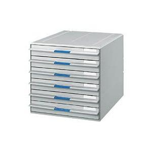 コクヨ LC-UN106M レターケース UNIFEEL 不透明引き出し A4縦 浅型6段 ライトグレー|bunsute