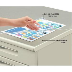 コクヨ マ-1800M デスクマット軟質(オレフィン・透明) 下敷き付き 600×450|bunsute