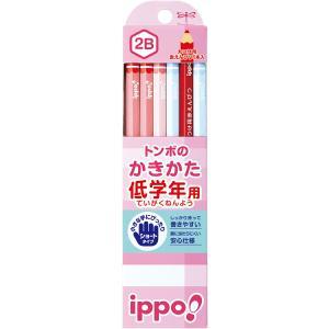 トンボ鉛筆 MP-SKPW03-2B 低学年用かきかたえんぴつ 六角軸 2B ippo! プレーンW03 bunsute
