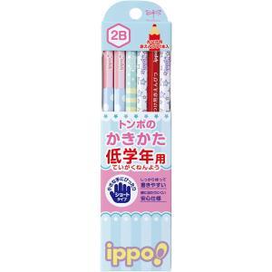 トンボ鉛筆 MP-SKRW03-2B 低学年用かきかたえんぴつ 六角軸 2B ippo! プリントW03 bunsute