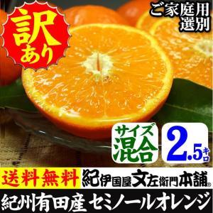 セミノール オレンジ 少量 (規格外 不揃い)わけあり 訳あり柑橘(皮に傷)(買得品2.5kg)ご家庭用 紀州・和歌山県・有田みかん  常温便|bunza