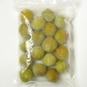 冷凍青梅(生梅) 品種=南高梅 500g(紀州和歌山産)梅酒、梅シロップ専用・クール冷凍便発送|bunza