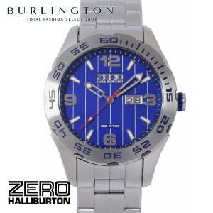 ZERO HALLIBURTON ゼロハリバートン 腕時計 メンズ ZW003S-03 シルバー ブルー 男性 人気 ブランド