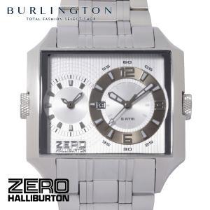 ZERO HALLIBURTON ゼロハリバートン 腕時計 メンズ ZW004S-04 デュアルタイム シルバー 男性 人気 ブランド