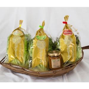 「金メダリーフ」(3種のリーフレタス)とねぎ味噌セット|送料込|busan-nagano