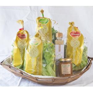 「金メダリーフ」(3種のリーフレタス)とプレミアムドレッシング・ねぎ味噌セット|送料込|busan-nagano