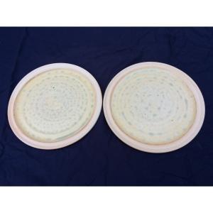 アダムスミス陶芸工房 丸平皿2枚 |送料込|busan-nagano