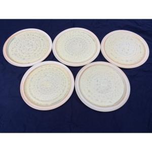 アダムスミス陶芸工房 丸平皿5枚 |送料込|busan-nagano
