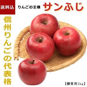 「信州フルーツ便」冬ギフト| サンふじ 3kg 【贈答用(8〜12玉)】 |送料込|信州産の旬のりんごを産地直送でお届けします。|busan-nagano