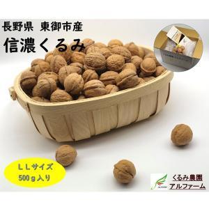 【国産くるみ】信濃くるみ (殻付き)LLサイズ 500g|送料込|busan-nagano
