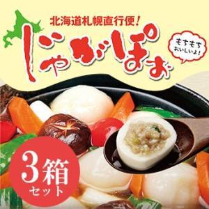 北海道産じゃがぽぉ 3箱セット(特製スープ付き) 五洋物産|bussan10