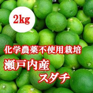 瀬戸内産 スダチ 2キロ 化学農薬不使用栽培 国産すだち bussan10