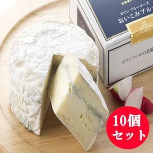 カマンベールチーズ おいこみブルー 10個セット 北海道クレイル ブルーチーズ|bussan10