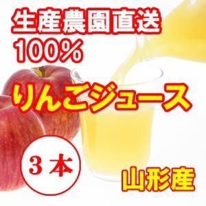 完熟100% りんごジュース 3本セット 産地直送 山形産|bussan10