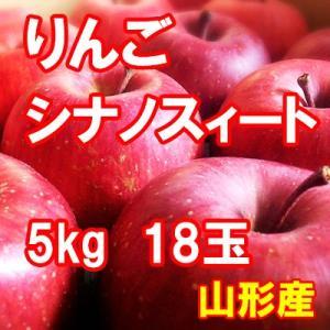 りんご シナノスィート 5kg 18玉 送料無料 国産 山形産 |bussan10