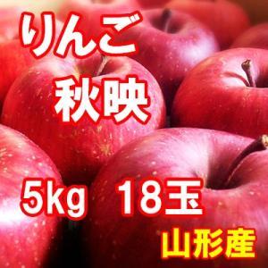りんご 秋映(あきばえ) 5kg 18玉 送料無料 国産 山形産 |bussan10
