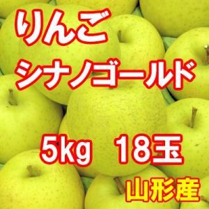 りんご シナノゴールド 5kg 18玉 送料無料 国産 山形産 |bussan10