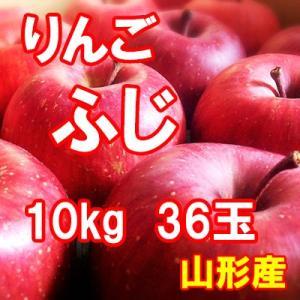 りんご ふじ 10kg 36玉 送料無料 国産 山形産 |bussan10