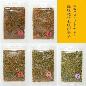 1000円ポッキリ 特上山椒 風味絶佳 七味唐辛子 辛さと山椒の量が選べる 全30種類の中から3袋を選択 お試しセット bussan10 02