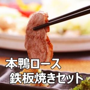 本鴨ロース鉄板焼きセット 送料無料 ギフト対応 島根 bussan10