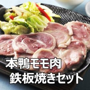 本鴨モモ肉 鉄板焼きセット 送料無料 ギフト対応 島根|bussan10