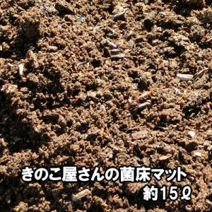 きのこ屋さんの菌床マット 昆虫マット 約15リットル 無農薬 家庭菜園