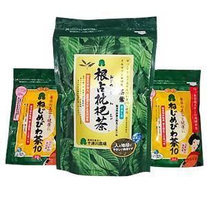 「ねじめびわ茶茶葉」の1袋と「ねじめびわ茶10」の2袋のセット 十津川農場|bussan10