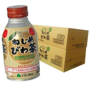ねじめびわ茶ボトル缶 48本 290ml×24本×2ケース 十津川農場|bussan10