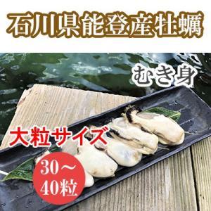 能登牡蠣(かき)むき身 大粒サイズ(1kg)(30粒〜40粒)(加熱用)|bussan10