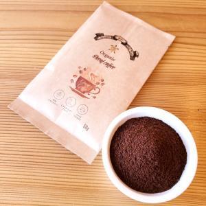 デカフェ オーガニック コーヒー 粉末タイプ お試し 1袋 50g カフェインレス 無農薬 有機栽培 珈琲 オックスファム フェアトレード ポイント消化|bussan10