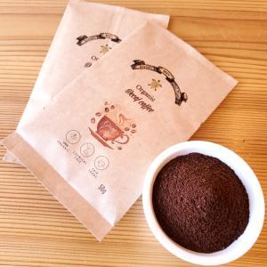 フェアトレード デカフェ オーガニック コーヒー 粉末タイプ お試し 2袋(1袋50g) カフェインレス 無農薬 有機栽培 珈琲 オックスファム ポイント消化|bussan10