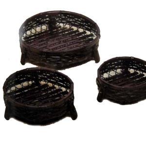 竹食器 黒染オードブル皿  中 10-6 bussankan
