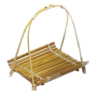 竹食器 鮎皿ワンタッチ柄付白 14-10 bussankan