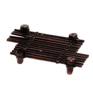 竹食器 黒丸竹ちがい皿 32-9 bussankan