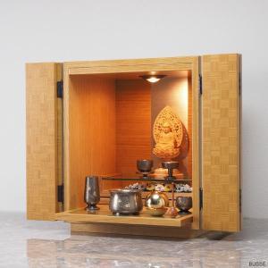 仏壇仏具セット ブルーム ナチュラル 夢幻 朧銀色 てふてふ彫りのセット|busse
