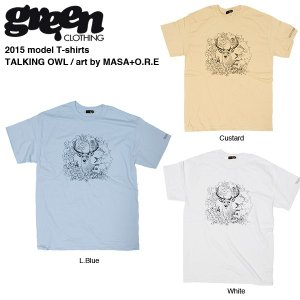Green clothing 2015 T-shirts TALKING OWL / グリーンクロージング Tシャツ|bussel