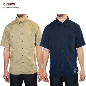 POP HDWR Worker Short Sleeve Shirts /ポップヘッドウエア ワーカーシャツ 2015model|bussel
