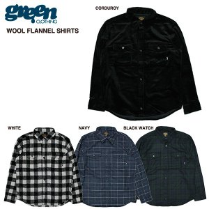 green clothing Wool Flannel Shirts / グリーン クロージング 2016-2017モデル|bussel