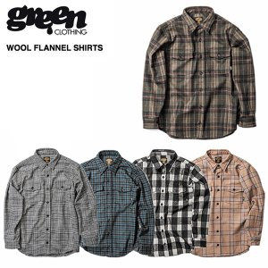 green clothing Wool Flannel Shirts / グリーン クロージング 2018-2019モデル|bussel