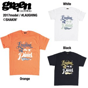 Green clothing Laughing T-shirts / グリーンクロージング Tシャツ 2017モデル|bussel