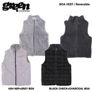 green clothing BOA Vest / グリーン クロージング ボアベスト 2017-2018モデル|bussel