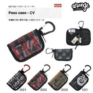oran'ge pass case - CV / オレンジ パスケース カラビナ付きタイプ|bussel