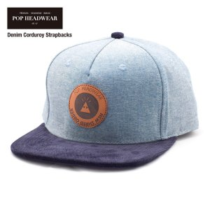 POP HEADWEAR NSO Denim Corduroy Strapbacks / ポップヘッドウエア SU17 SPOT|bussel