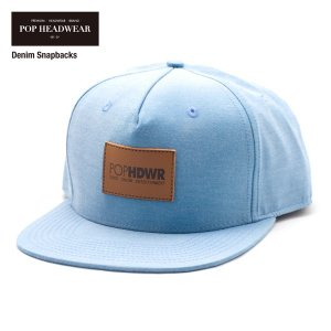 POP HEADWEAR Denim Snapbacks / ポップヘッドウエア SU17 SPOT|bussel