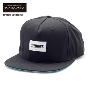 POP HEADWEAR Emerald Strapbacks / ポップヘッドウエア SU17 SPOT|bussel